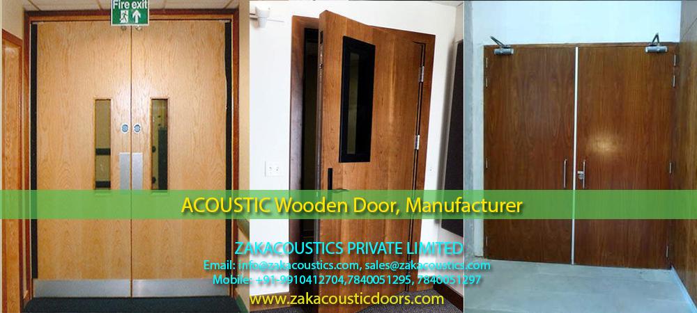 Acoustic Door Wooden Metal Fire Door Zak Acoustic Doors